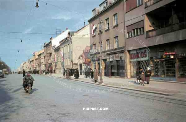 14th Panzer Division enters Zagreb, Croatia 1941.