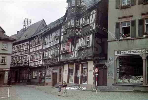 At the market place in Miltenberg, Germany 1938