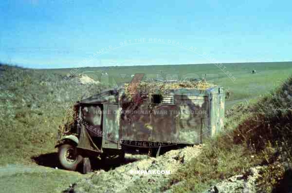 Captured Canadian Ford CMP 15 CW Truck as command car for german army unit in Russia 1942.