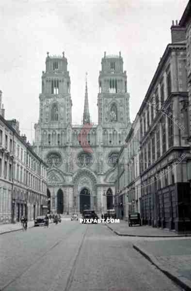 Cathedral Sainte-Croix d'Orléans in Orlean, France 1940