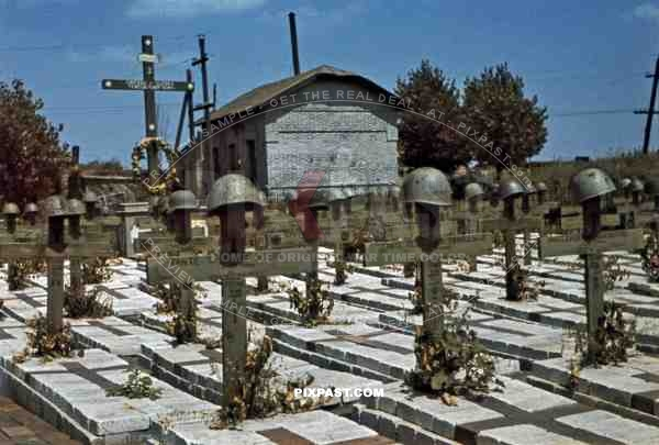 "cemetery of the 79th Infantry Regiment ""Roma"", Wuhlehirsk, Ukraine 1942"