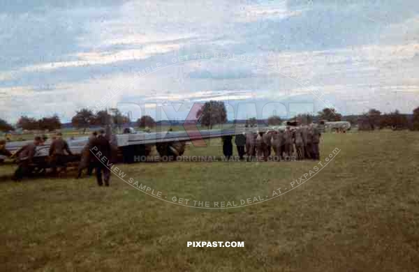 Crash landed Messerschmitt Bf110 of Lehrgeschwader 2. 7.(H)/LG2. South Russia 1941