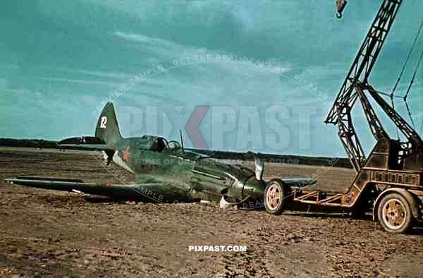 Crashed Russian MIG3 high altitude interceptor, Smolensk Oblast 1942