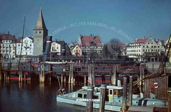 Diesel Tour Holiday Ship Allgau in Lindau Germany 1943. Bodensee.