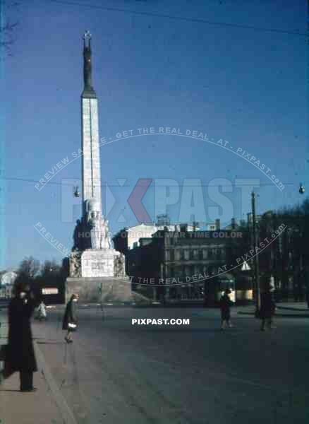freedom monument in Riga, Latvia 1943