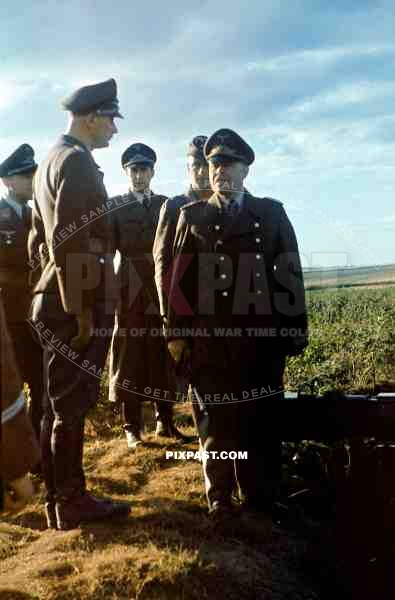 Generalfeldmarschall Albert Kesselring inspecting FLAK Anti-aircraft battery in Croatia 1943.