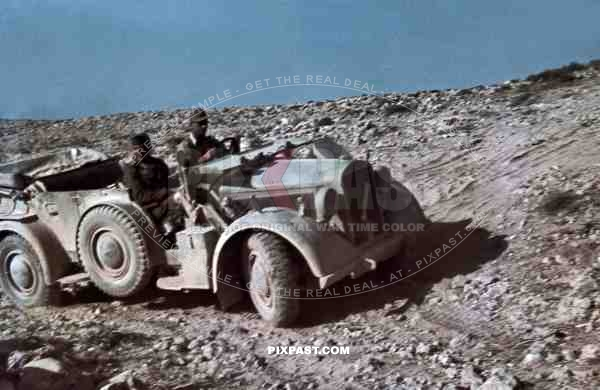German General Hans Cramer in Afrika Korp staff car Horch 901, El Alamein 1942