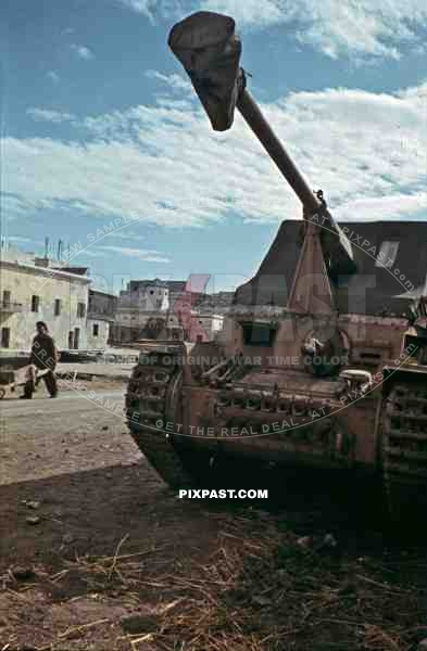 German Marder 3 Panzer in La Goulette, Tunisia 1942