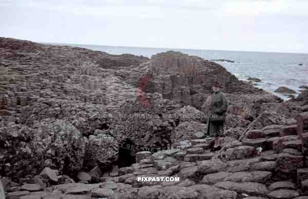 Giant's Causeway at the sea coast of the Antrim plateau, Ireland 1939