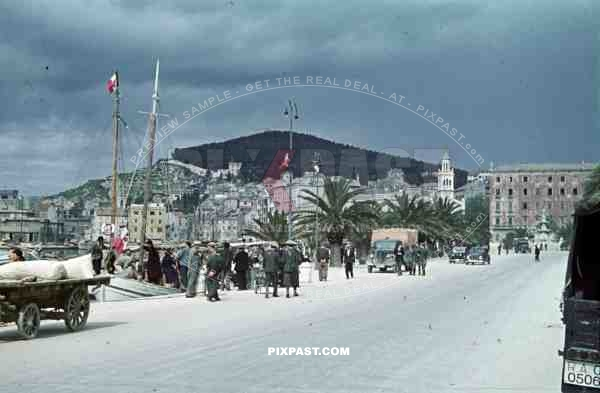 harbour in Split, Croatia 1941.  Italian occupation. April 15th 1941.