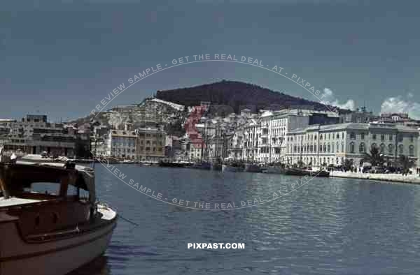 harbour in Split, Croatia 1941, Italian occupation. April 15th 1941.
