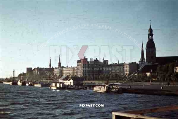 harbour of Riga, Latvia  1942, 207. Infantry Division, Major Scheer