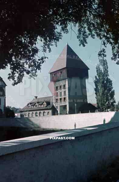 Konstanz Germany 1936 Tower on the Rhine River