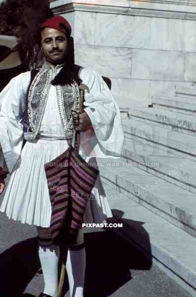 Local Greek in traditional costume. Athens. Greece. 1939.