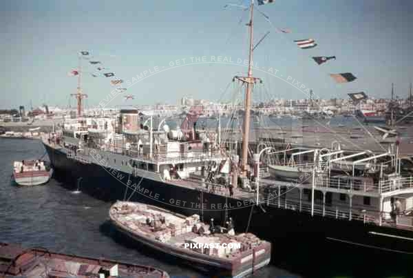 Military harbour in Alexandria, Egypt 1939