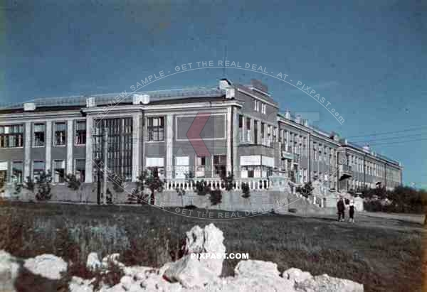 Military hospital in Kramatorsk, Ukraine 1942