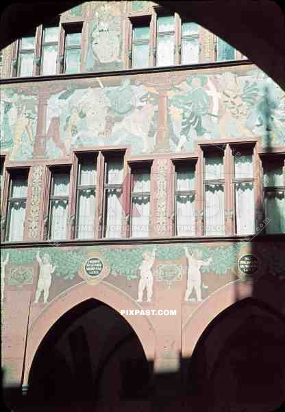 paintings on the Basel town hall, Switzerland