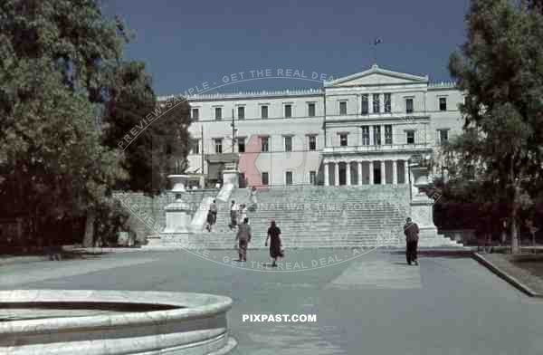 Parliament building in Athens, Greece ~1940