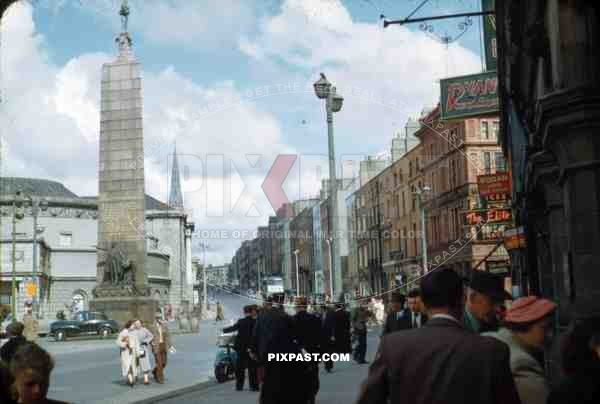 Parnell Square, Dublin, Ireland, 1953, Top of O