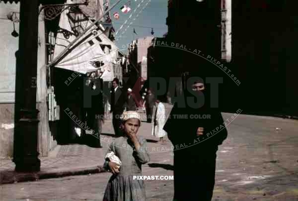 People on the street in Alexandria, Egypt 1939