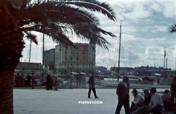Port captaincy building in harbour in Split, Croatia 1941.  Italian occupation. April 15th 1941.