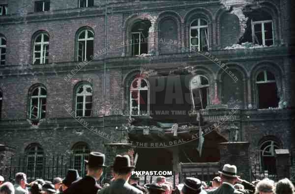 Post Office in Danzig Poland September 1st 1939. Battle between post workers and German police and SS