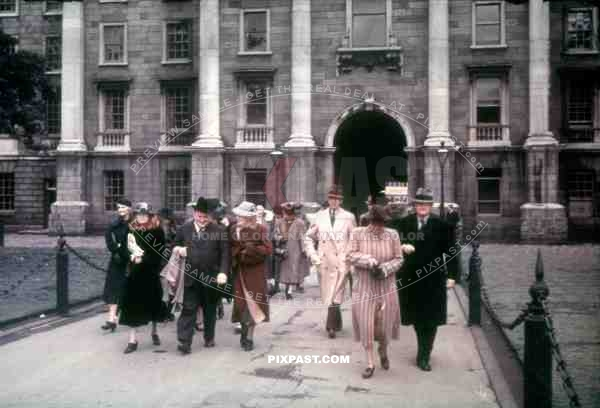 Regent House at the Trinity College in Dublin, Ireland 1939