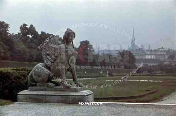 Sphinx at the Belvedere Palace in Vienna, Austria ~1938