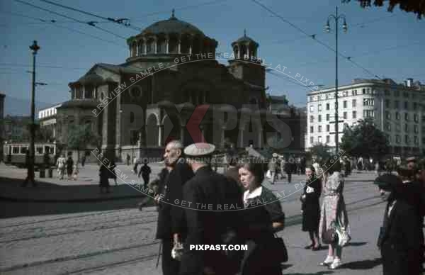 Sveta Nedelya church in Sofia, Bulgaria 1942