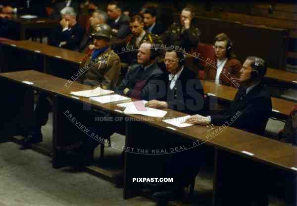 The Nuremberg trial of German Luftwaffe Field Marshal Erhard Milch 1945
