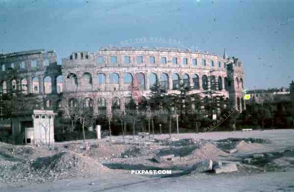 The Pula Amphitheater, Croatia 1942