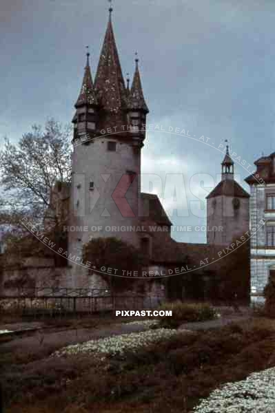 "tower ""Diebsturm"" in Lindau am Bodensee, Germany ~1942"