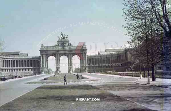 triumphal arch at the Jubelpark in Brussels, Belgium 1940