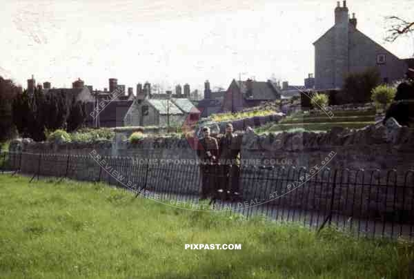 two GIs in Cleobury, England ~1944